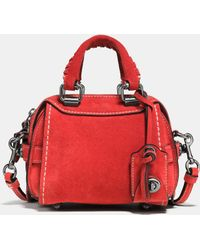 COACH | Ace Satchel 14 In Suede | Lyst