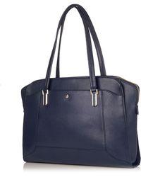 Knomo - Wigmore Marine Saffiano Leather Briefcase - Lyst