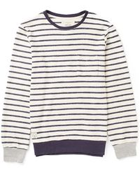 Native Youth | Contrast Rib Loopback Crew | Lyst
