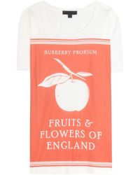 Burberry Prorsum - Printed Cotton T-Shirt - Lyst