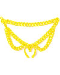 Moschino Belt - Yellow - Lyst