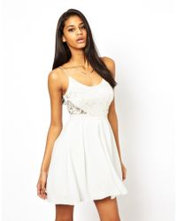 Tfnc Cami Dress with Lace Bodice - Lyst