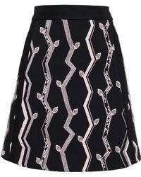 3.1 Phillip Lim Embroidered A-Line Skirt - Lyst