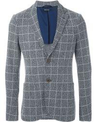 Giorgio Armani | Woven Checked Blazer | Lyst