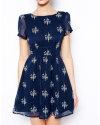 Sugarhill - Duckie Print Dress - Lyst