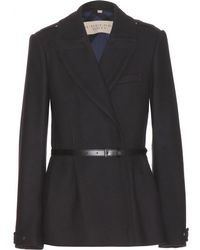 Burberry Brit - Drumleigh Double Wool-Twill Pea Coat - Lyst