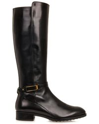 Tod's Leather Riding Boots - Lyst
