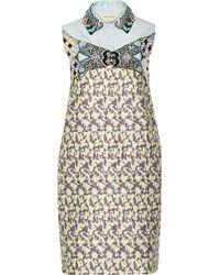Mary Katrantzou Taby Embellished Jacquard Mini Dress - Lyst
