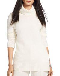 Lauren by Ralph Lauren - Raglan Sleeve Wool & Cashmere Turtleneck - Lyst