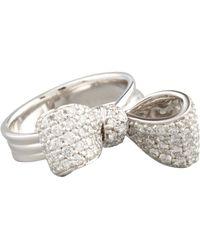 Mimi So - Bow Small 18K White Gold Diamond Ring Size 6 - Lyst
