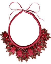 Hoss Intropia Necklace red - Lyst