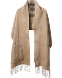 Burberry Double Sided Scarf with Pockets - Lyst