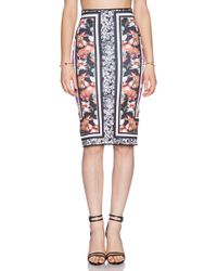 Clover Canyon Floral Scarf Print Reversible Skirt - Lyst