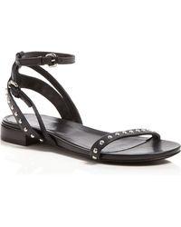 McQ by Alexander McQueen Flat Studded Sandals - Solenie - Lyst