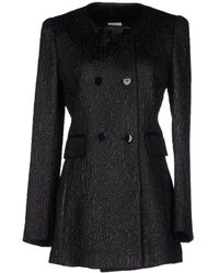 Philosophy di Alberta Ferretti Coat black - Lyst