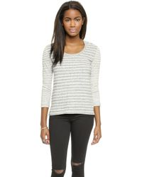 James Perse Collage Striped Top - Lyst