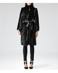 Reiss Ombre Streamlined Shearling Coat - Lyst