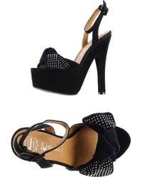 Jeffrey Campbell Black Sandals - Lyst