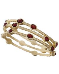 Topshop Gold-Look Stacked Bangles - Lyst
