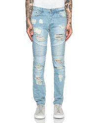 Stampd Men'S Distressed Moto Jeans - Lyst