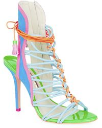 Sophia Webster - Lacey Leather And Suede Sandal - Lyst