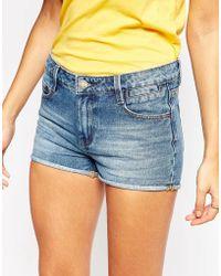 Warehouse - Turn Up Denim Shorts - Lyst
