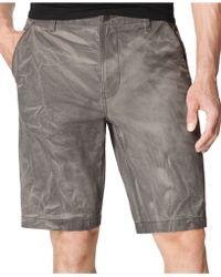 Calvin Klein Jeans Marble-wash Trouser Shorts - Lyst