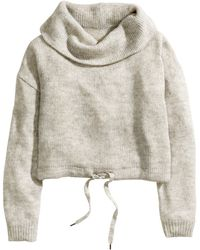 H&M Wide Polo-neck Jumper - Lyst