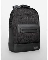 Calvin Klein White Label Caleb Slim Backpack black - Lyst