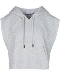 Adidas By Stella McCartney | Pearl Grey Yoga Crop Hoodie | Lyst
