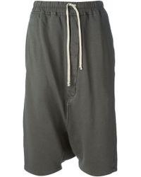 DRKSHDW by Rick Owens Drop Crotch Shorts - Lyst