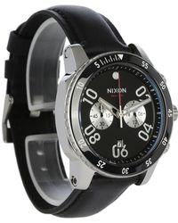 Nixon   Black Ranger Chrono Leather Watch   Lyst