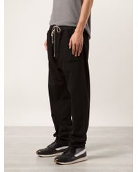 DRKSHDW by Rick Owens Black Track Trousers - Lyst