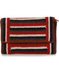 Rachel Comey - Lea Striped-crochet Clutch - Lyst