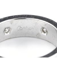 Cartier Pre-owned 18kw and Diamond Love Band - Lyst