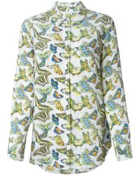 Equipment Butterfly Print Blouse - Lyst
