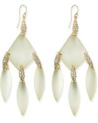 Alexis Bittar Vert Deau Chandelier Earrings - Lyst