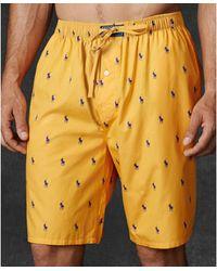 Polo Ralph Lauren Mens Allover Polo Player Woven Pajama Shorts - Lyst