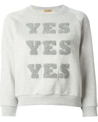 Peter Jensen 'Yes, Yes, Yes' Cropped Sweatshirt - Lyst