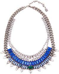 Dannijo Silver Misty Necklace - Lyst