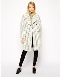 Asos Coat With Cocoon Fit In Texture - Lyst