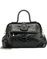 Zagliani - Python Jamila Extra-Small Shoulder Bag - Lyst