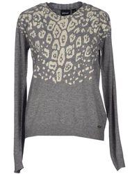 Just Cavalli Gray Sweater - Lyst