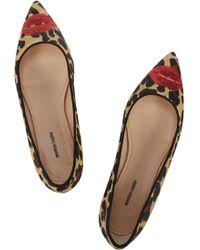 Markus Lupfer - Leopard Print Calf Hair Court Shoes - Lyst