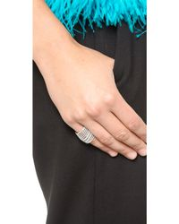 Noir Jewelry - Crystal Encrusted Ring - Gold/Clear - Lyst
