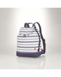Ralph Lauren - Striped Canvas Backpack - Lyst