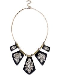 River Island Black Encrusted Statement Necklace - Lyst
