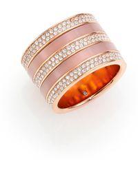 Michael Kors | Jeweled Blush Barrel Ring | Lyst