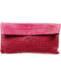 Patrizia Pepe Clutch Bag Mini Shoulder Leather With Chain Printed Crocco - Lyst