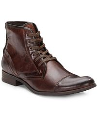 Joe's Jeans Piston Cap-toe Leather Boots - Lyst